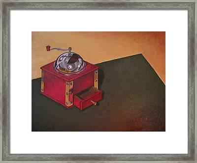 Coffee Grinder Framed Print by Lori Miller
