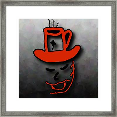 Coffee Hat Man Framed Print