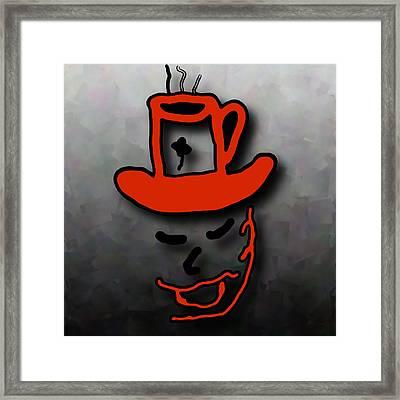 Coffee Hat Man Framed Print