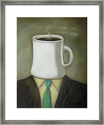 Coffee Head Framed Print by Leah Saulnier The Painting Maniac