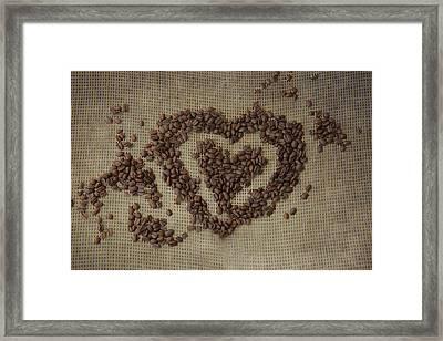 Coffee Heart Framed Print by Pamela Williams
