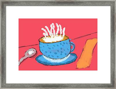Coffee In A Cup Framed Print