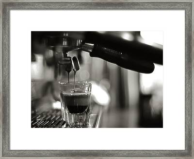 Coffee In Glass Framed Print by JRJ-Photo