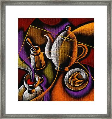 Coffee Framed Print by Leon Zernitsky