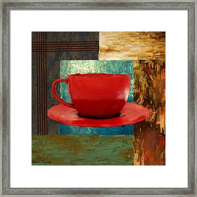 Coffee Lover Framed Print by Lourry Legarde