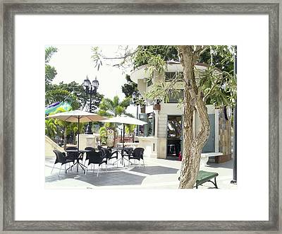 Coffee Lover's Expresso Bar At The Moll Boscana Town Square Framed Print