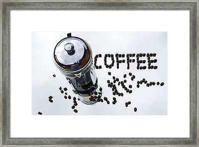 The Aroma Of Fresh Coffee Framed Print by Dave Byrne