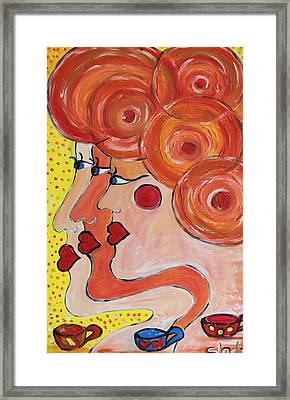 Coffee Morning Framed Print by Sladjana Lazarevic
