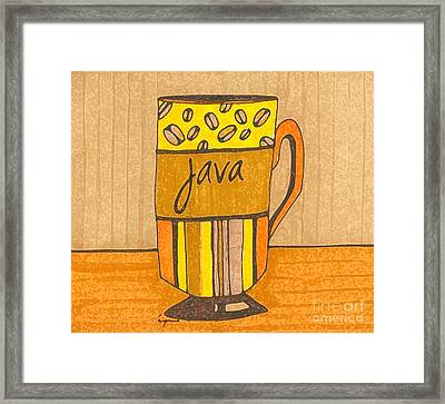 Coffee Mug - Java Cup - Cup Of Joe - Morning Coffee Illustration Art Framed Print