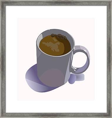 Coffee Mug Framed Print by Robert Bissett