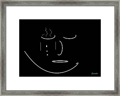 Coffee Mug/face? Framed Print