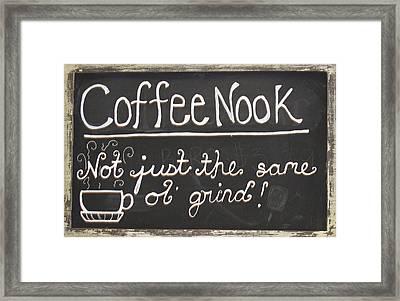 Coffee Nook Framed Print by Barbara McDevitt