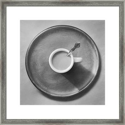 Coffee On A Wooden Tray Framed Print by Scott Norris