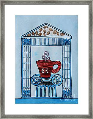 Coffee Palace Blue Framed Print by Norma Appleton