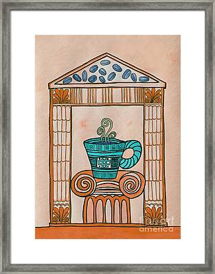 Coffee Palace Terracotta Framed Print by Norma Appleton