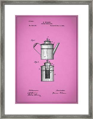 Coffee Percolator Patent 1894 Framed Print