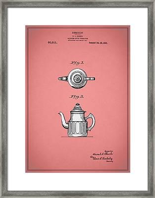 Coffee Percolator Patent 1921 Framed Print