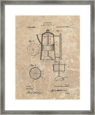 Coffee Percolator Patent Framed Print