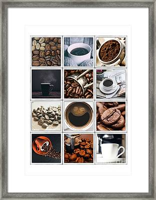 Coffee Poster Framed Print by Edward Fielding