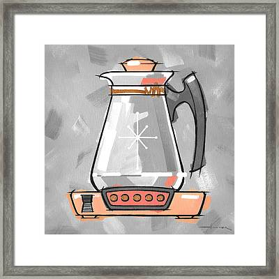 Coffee Pot Coral Framed Print by Larry Hunter