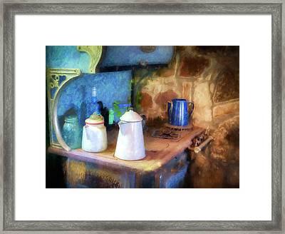 Coffee Pots Framed Print