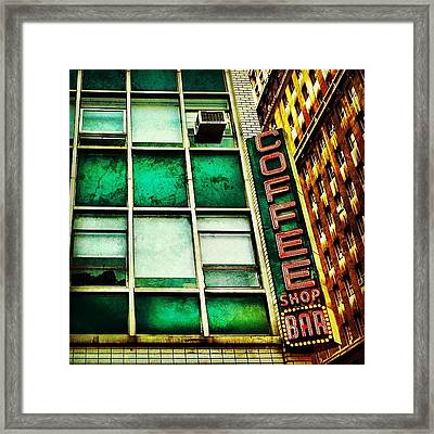 Coffee Shop Bar Framed Print