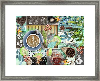 Coffee Shop Collage Framed Print