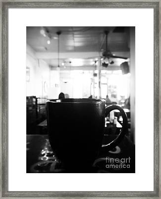 Framed Print featuring the photograph Coffee Shop by Utopia Concepts