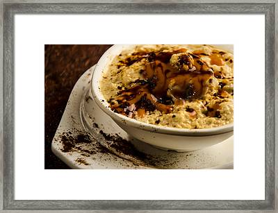 Coffee Souffles With Caramels Framed Print by Manjot Singh Sachdeva