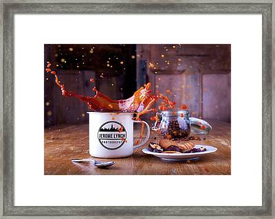 Coffee Splash Framed Print