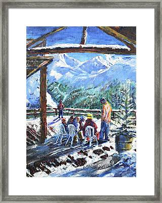 Coffee Stop At Val D'isere Framed Print