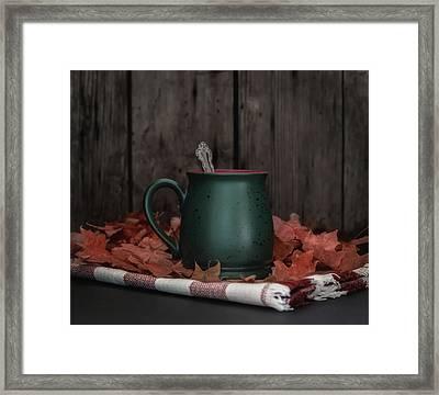 Coffee, Tea And Autumn Framed Print by Kim Hojnacki