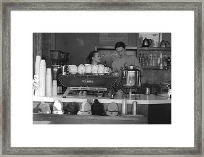 Coffee Time Framed Print by Amanda Browning