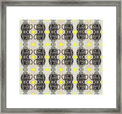 Coffee Time Patttern Framed Print