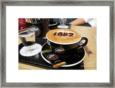 Coffee Time Framed Print by Sunaina Serna Ahluwalia