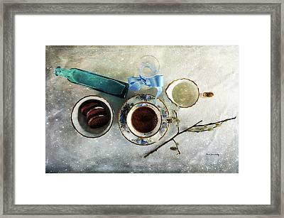 Coffee View Framed Print by Randi Grace Nilsberg