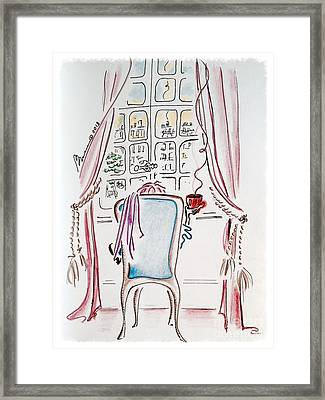 Coffee With A View Framed Print by Barbara Chase