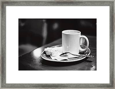 Framed Print featuring the photograph Coffee With Cream by April Reppucci
