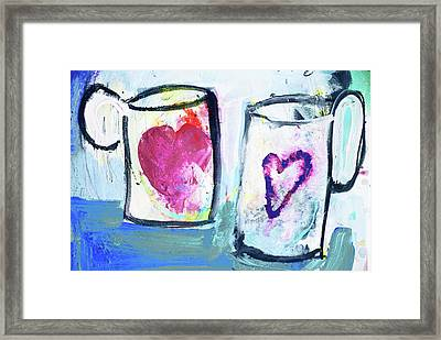 Coffee With Love Framed Print by Amara Dacer