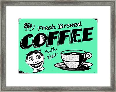 Coffee With Tillie Framed Print