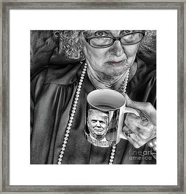 Coffee With Trump  Framed Print by Steven Digman