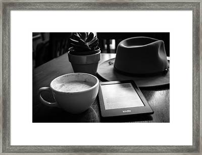 Framed Print featuring the photograph Coffeehouse Lifestyle by Monte Stevens