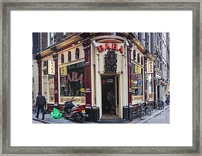 Coffeeshop In Amsterdam Framed Print by Andre Goncalves
