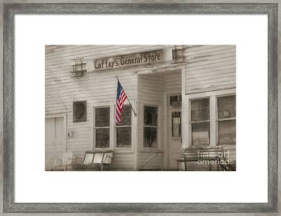 Coffey's General Store Framed Print by Benanne Stiens