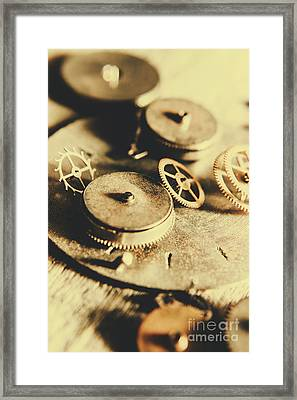 Cog And Gear Workings Framed Print