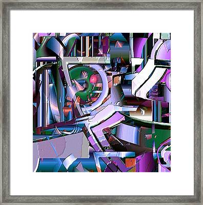 Cog Framed Print by Dave Kwinter