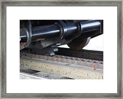 Cog Rail Framed Print by Alan Dean