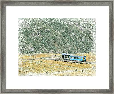 Cog Railroad Train. Framed Print