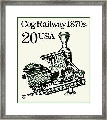 Cog Railway 1870s Framed Print