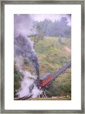 Cog Railway Car Framed Print